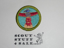 Wood Carving - Type K - Fully Embroidered Merit Badge with 100th Anniv backing (2010)