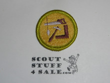 Woodwork - Type J - Fully Embroidered Merit Badge with Scout Stuff backing (2002-current)