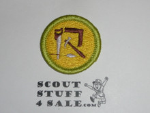 Woodwork - Type K - Fully Embroidered Merit Badge with 100th Anniv backing (2010)