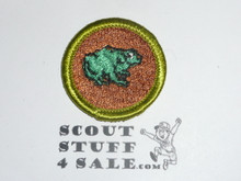 Zoology - Type H - Fully Embroidered Plastic Back Merit Badge (1972-2002)