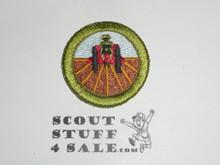 Farm Mechanics 38mm - Type I - Fully Embroidered Computer Designed Merit Badge (1993-1995)