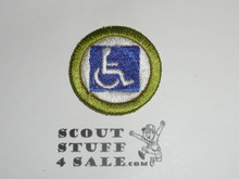 Handicapped Awareness 38mm - Type I - Fully Embroidered Computer Designed Merit Badge (1993-1995)