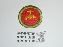 Plumbing 38mm - Type I - Fully Embroidered Computer Designed Merit Badge (1993-1995)