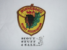Winnebago Scout Reservation c/e twill Camp Patch, yellow twill