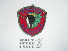 Winnebago Scout Reservation c/e twill Camp Patch, red twill