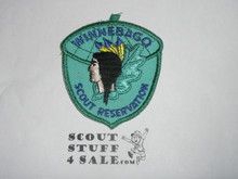 Winnebago Scout Reservation c/e twill Camp Patch, lt. blue twill