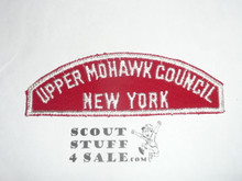 Upper Mohawk Council Red/White Council Strip -Scout