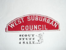 West Suburban Council Red/White Council Strip -Scout