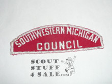 Southwestern Michigan Council Red/White Council Strip, Lite use, Narrow T's