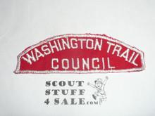 Washington Trail Council Red/White Cncl Strip, lite use