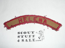 HELENA Tan and Red Community Strip, lite use