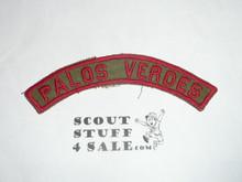 PALOS VERDES Khaki and Red Community Strip