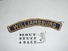 WILLIAMSBURG Blue and Gold Cub Scout community strip, sewn