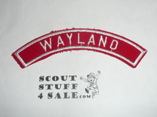 WAYLAND Red and White Community Strip