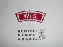 WIS. Red and White State Strip