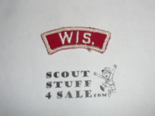 WIS. Red and White State Strip, sewn