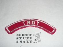 TROY Red and White Community Strip, sewn