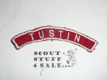 TUSTIN Red and White Community Strip, sewn