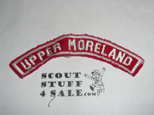 UPPER MORELAND Red and White Community Strip, sewn