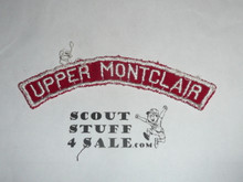 UPPER MONTCLAIR Red and White Community Strip, sewn