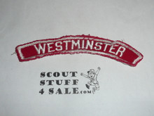 WESTMINSTER Red and White Community Strip, sewn