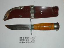 Swedish Sheath Knife with Leather Sheath, Manufactured by Mora, Lite wear (CSE105)