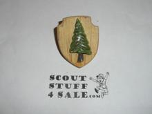 Pine Tree on Shield Plaster Neckerchief Slide
