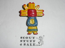 Kachina Indian Resin Neckerchief Slide, by Torchy