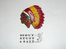 Indian Head NEAL Neckerchief Slide, nicely painted