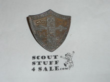 William Pouch Scout Camp Bronze Neckerchief Slide, Greater New York Council