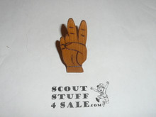 Peace Sign Handmade Neckerchief Slide
