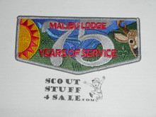 Order of the Arrow Lodge #566 Malibu 75th Anniversary Flap Patch