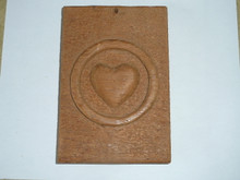 Personal Health Merit Badge Carved into wood
