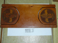 Homemade Wood Boy Scout Book ends