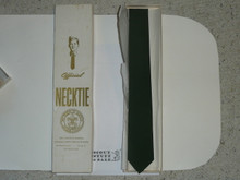 1970's Official Boy Scout Neck Tie, Dark Green