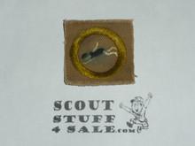 Swimming - Type A - Square Tan Merit Badge (1911-1933), used