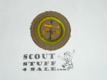 Weather - Type C - Tan Crimped Merit Badge (1936-1946)
