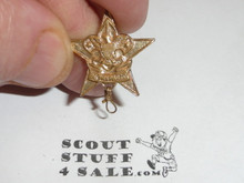 Star Scout Rank Pin, Spin lock Back (missing), 22mm wide, Wire Knot