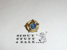 Boy Scout 8 Year Pin, Spin Back