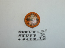 Pledged to be a Second Class Scout by Scout Circus Boy Scout Button, 1940's
