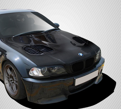 BMW 3 Series 2DR GTR Carbon Fiber Creations Body Kit- Hood 1999-2006