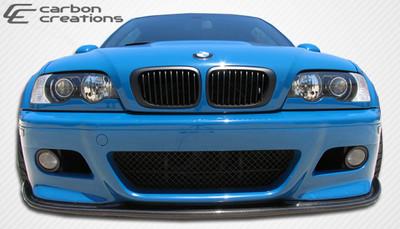 BMW 3 Series 2DR HM-S Carbon Fiber Creations Front Bumper Lip Body Kit 2001-2006