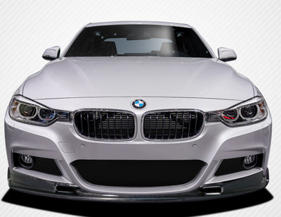 BMW 3 Series 4DR Eros Version 1 Carbon Fiber Front Bumper Lip Body Kit 2012-2015