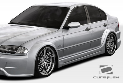 BMW 3 Series 4DR I-Design Duraflex Side Skirts for Wide Body Kit 1999-2005