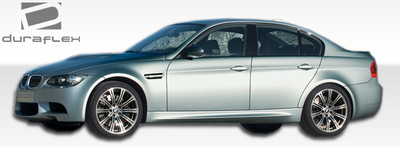 BMW 3 Series 4DR M3 Look Duraflex Side Skirts Body Kit 2006-2011