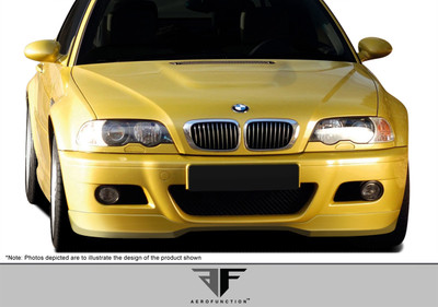 BMW M3 2DR AF-1 Aero Function (GFK) Front Bumper Lip Body Kit 2001-2006