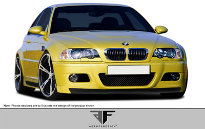 BMW M3 2DR AF-2 Aero Function (GFK) Front Add On Spoiler 2001-2006