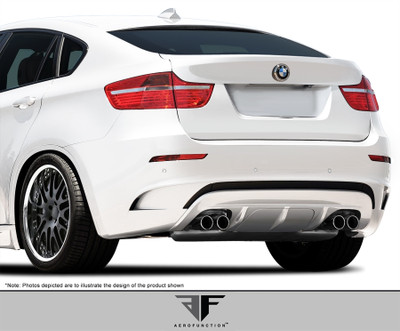 BMW X6 AF-4 Aero Function Rear Body Kit Bumper 2008-2014
