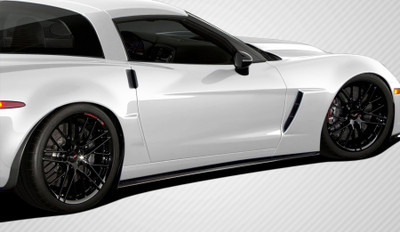 Chevy Corvette GT500 Carbon Fiber Creations Side Skirts Body Kit 2005-2013