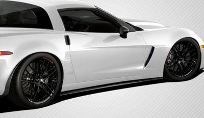 Chevy Corvette GT500 Carbon Fiber Creations Side Skirts Body Kit 2005-2013